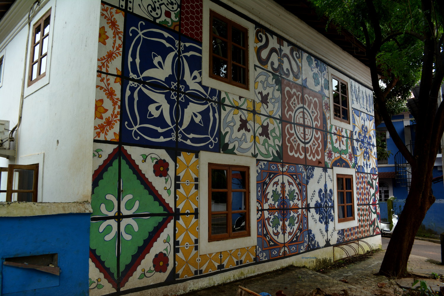 Artistic Wall at Fontainhas Panjim Goa