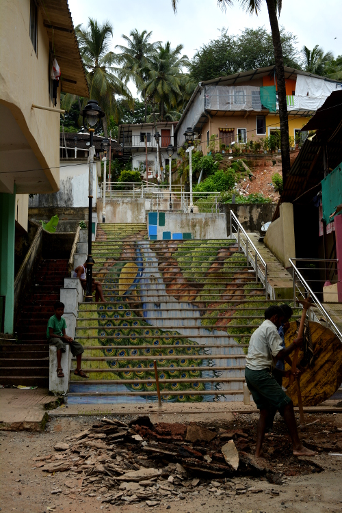 Artistic Steps at Fontainhas Panjim Goa