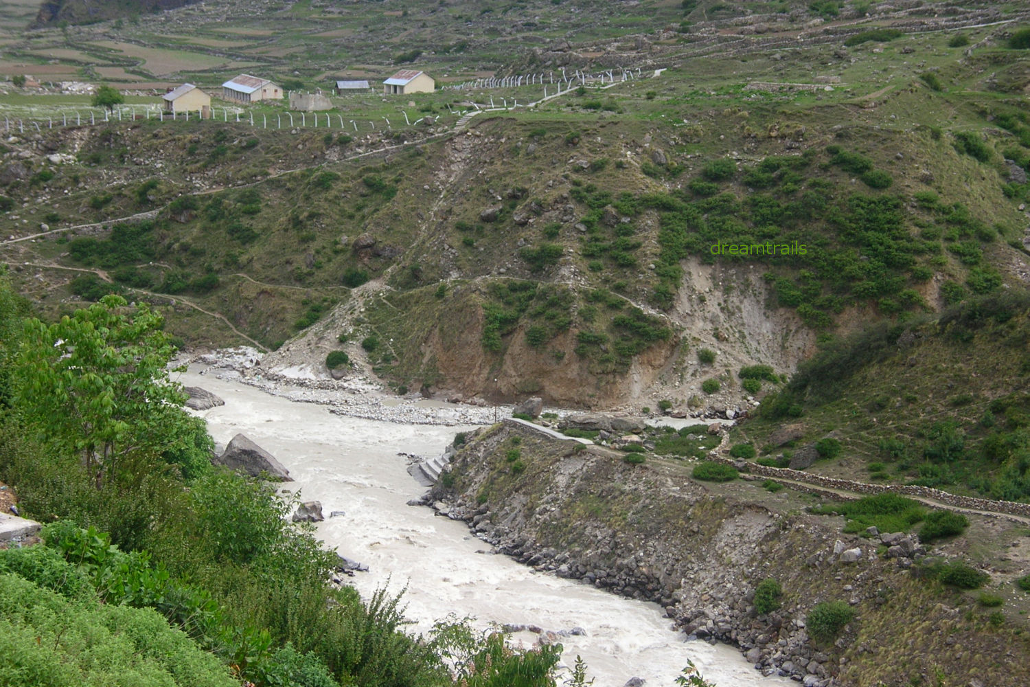 Confluence of River Saraswati and Alaknanda at Mana