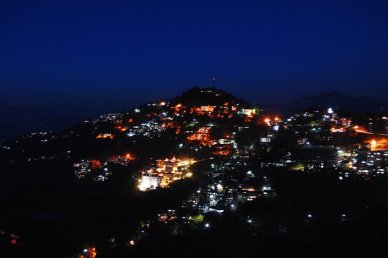 Night View from The Ridge, Shimla