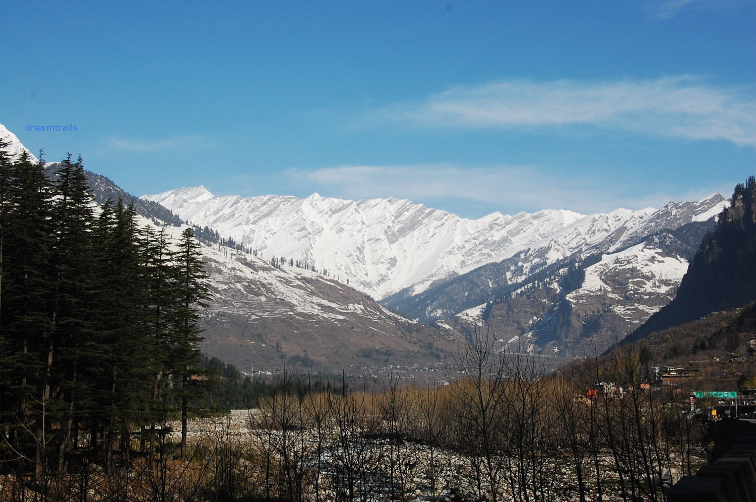 Snow Capped Mountains at Solang Valley, Manali