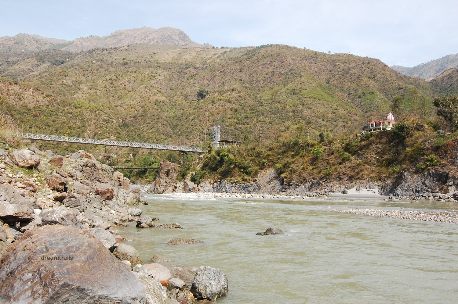 Hanging Bridge over River Sutlej, Tattapani / Tatta Pani